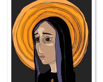 Our Lady Of Sorrows Fine Art Print