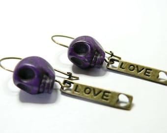 Love the Purple Death earring