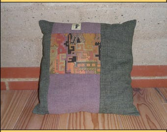 """""""Green Vertical"""" pillow"""
