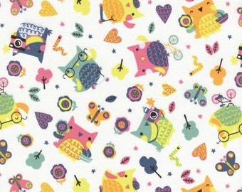 Timeless treasures owls animal patchwork fabric