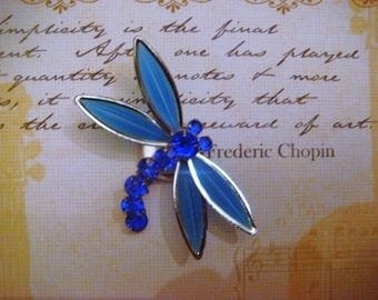 "Charm-""silver-plated"" Dragonfly magnet"