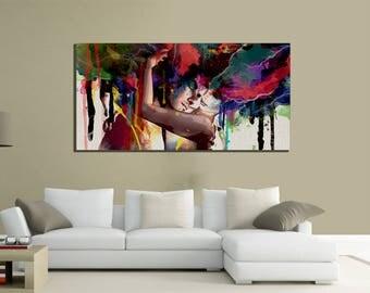 modern paintings canvas 100x70 canvas klimt passion love home living art love