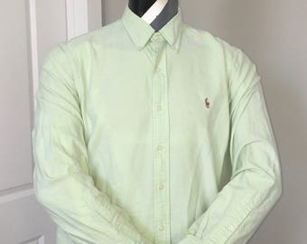 Polo Ralph Lauren-Oxford Long Sleeve Button Down-Green Pastel