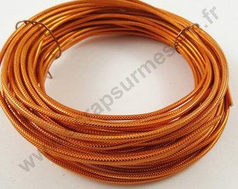 Aluminum wire Ø 2 mm - ORANGE - x 10 m