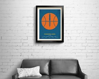 The Basketball Diaries - alternative, minimalist movie poster, art print, home decor