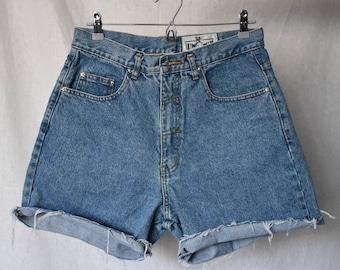 "Ultimate Concept Vintage High Waist Denim Cutoff Shorts Waist 31"""