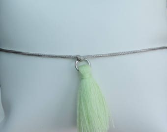 Sliding knot and tassel bracelet