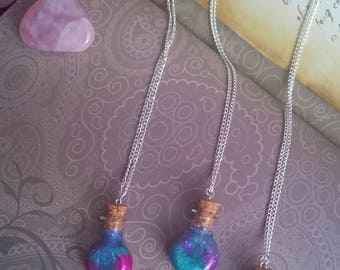 Galaxy Potion Bottle Necklace