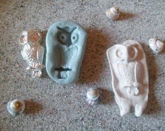 OWL silicone mold or great for fimo wepam resin cast