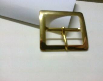 Rectangular buckle brass passage 3cm * BO48 *.