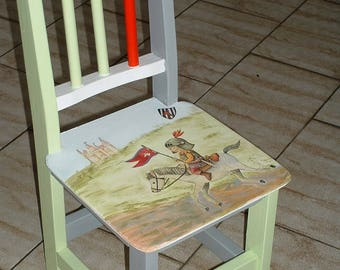 SMALL child's chair - the little Knight.