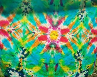 Flower tie dye tapestry