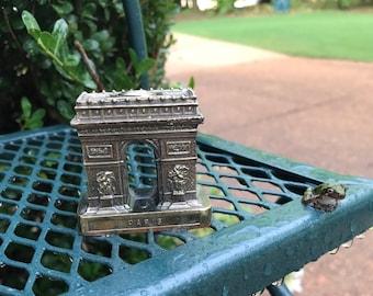 Paris Paperweight Vintage Souvenir