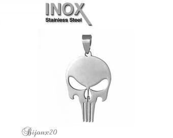 5 pendants skull 46x24mm stainless skull stainless steel set M05201