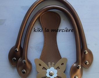 bag handles, bag handles handbag handles, handles copper leatherette bag kit
