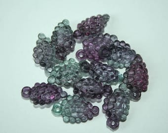Charm cluster Purple 2 cm x 12