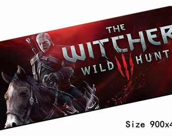 the witcher 3 wild hunt mouse pad 900x400mm