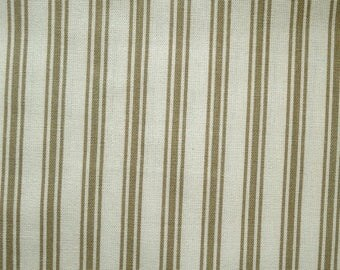 Coupon 40 x 6 cm white beige striped canvas ideal for making a bag