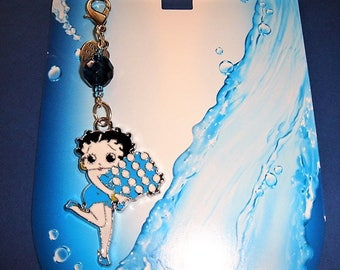 handbag pin'up doll betty B effigy Marilyn Monroe glazed blue and white