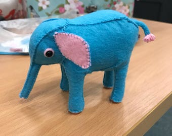 Cute and Cuddly Felted Elephant