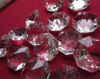 13 octogons for chandelier Crystal beads * 24 mm * 2 holes