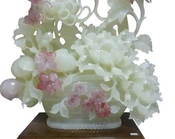 Gem Stone Sculpture 'huakaifugui' blossom