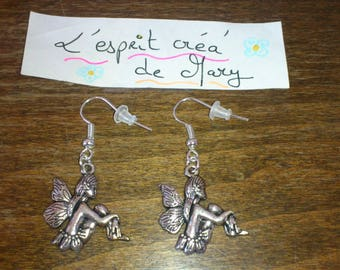 earrings with fairy design