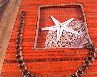 3 bracelets mesh, 20 cm, bronze, lobster clasp