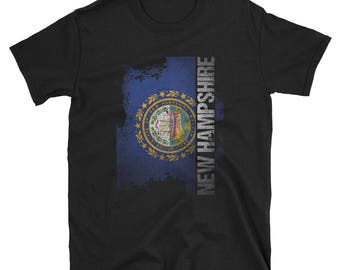 New Hampshire State Flag T-Shirt New Hampshire Hometown Shirt New Hampshire Gift