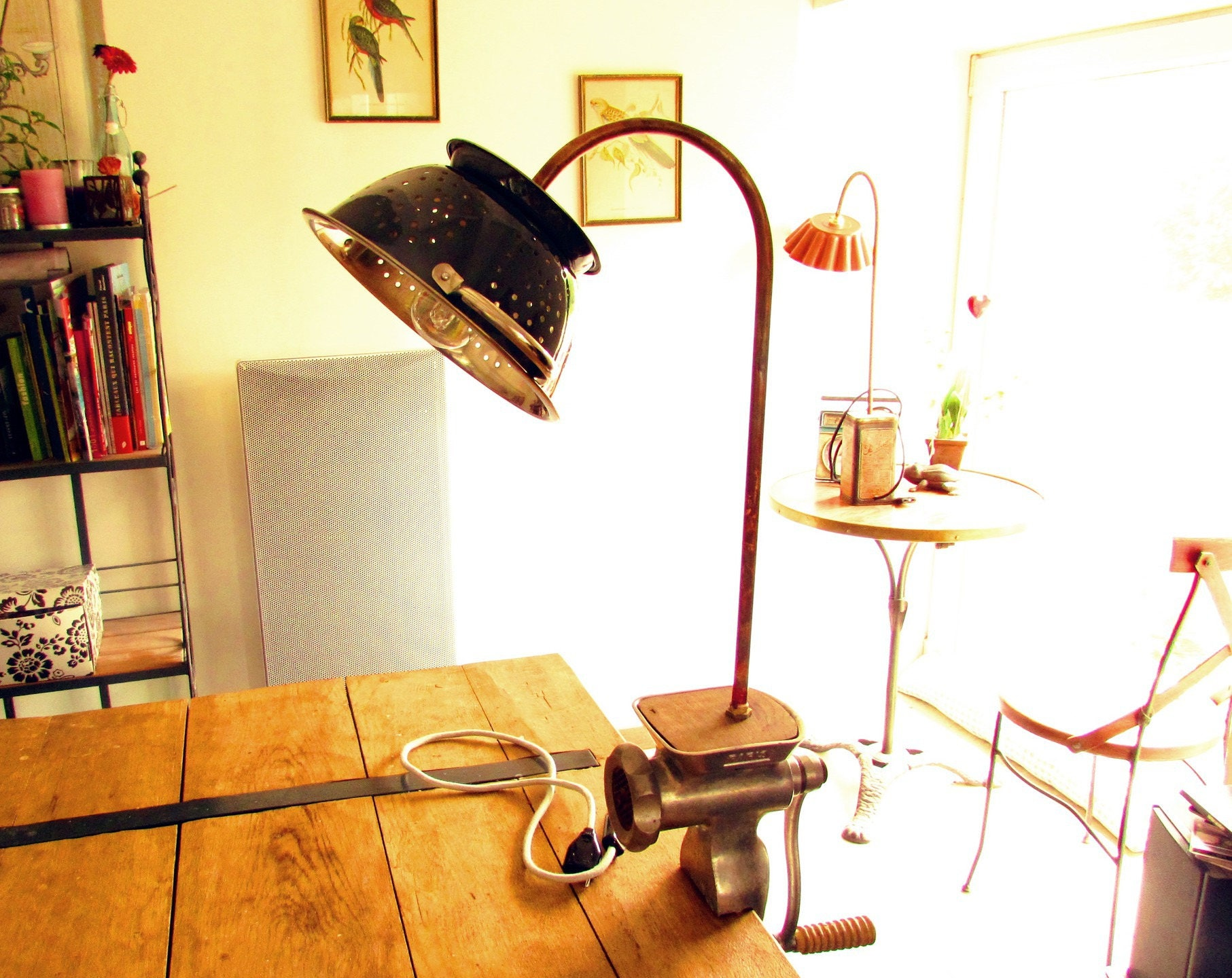 lampe vintage poser fixer avec accroche serre joint objet. Black Bedroom Furniture Sets. Home Design Ideas