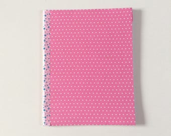Upcycled Journal - Pink Dots