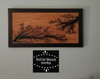 Hand Crafted Wood Burn Art