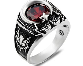 ottoman empire turkish style 925 sterling silver traditional man men ring all size