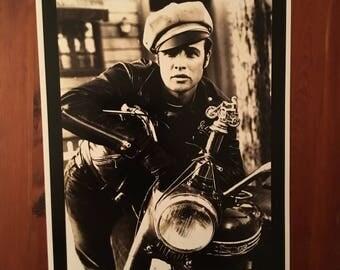 Vintage Marlon Brando reproduction poster
