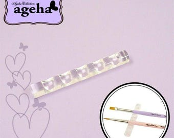 Ageha Collection: Nail brush holder clear