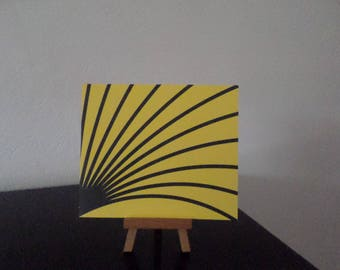 card POP UP in yellow and black