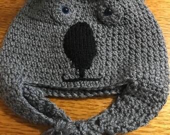 Large Koala Beanie child Crochet Hat