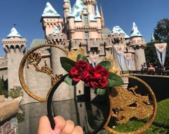 Beauty and the Beast Glitter 3D Ears!