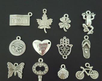 set of 10 assorted charms