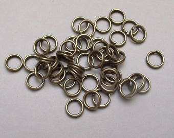 100 jumprings double 6 mm color bronze.