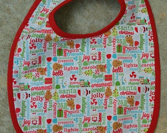 3/6 months collection Christmas Terry bib