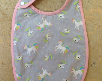 6/12 months collection unicorns Terry bib
