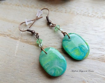 Pearl earrings Pearl pearl Oval