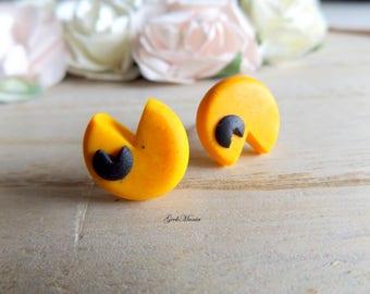 Stud earrings Pacman