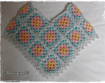 12/24 months crochet baby poncho.