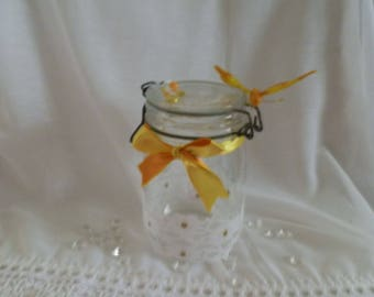 Lovely old style glass jar
