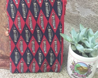 Golf-Themed Small Vintage Tie Zipper Pouch