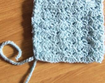 Blue wool bonnet size 3 months