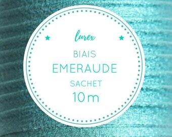 10 m bias lurex - emerald green bag