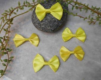 5 cm - yellow - 5.20 satin bows / 3.6 cm
